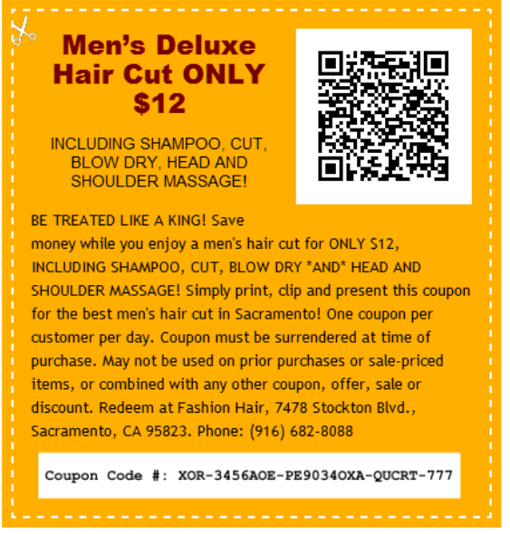 Best Cuts Coupons Hair Salon in Stockton